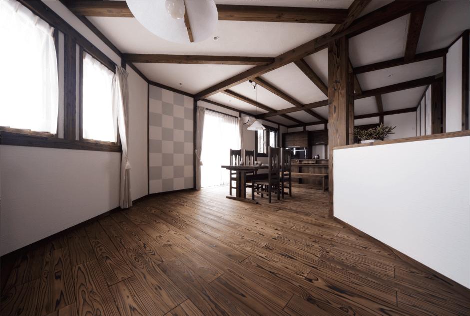 音響熟成木材デザインフローリングの施工例
