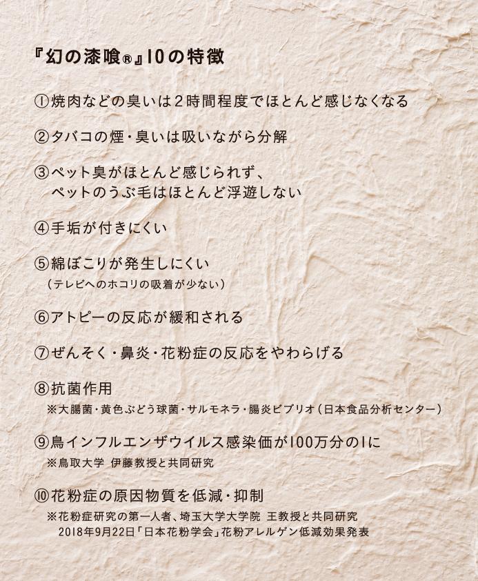 『幻の漆喰』10の特徴